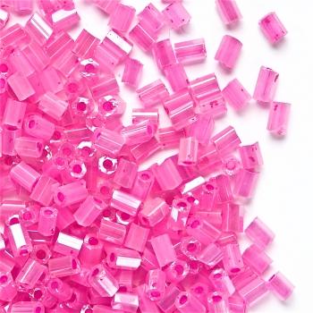 Бісер-рубка рожевий 2,1 мм скло