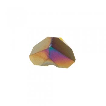 Хрустальная бусина треугольник 4 мм желтая