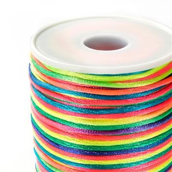 Шнур полиэстеровый 2 мм радужный