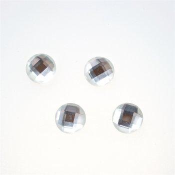 Стрази скляні клейові. Прозорий. Діаметр 12 мм.