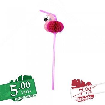 Трубочка для напитков Фламинго