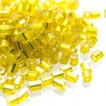 Бісер-рубка прозорий жовтий 2.1 мм скло