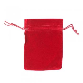 Декоративний мішечок оксамитовий 11х9,5см червоний