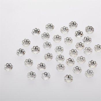 Обниматели серебро цветок 12 мм