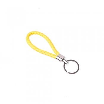 Жовте кільце для брелка з петлею