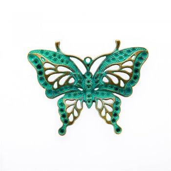 Кулон металлический бабочка ажурный