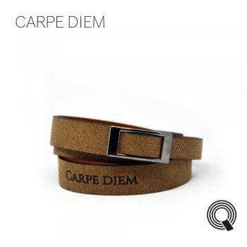 "Браслети квоутлети ""Carpe diem"", темно-коричневий"