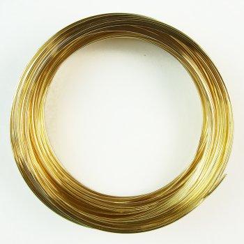 Жестяная основа для браслета золотистая
