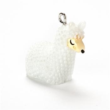 Пластиковая подвеска лама