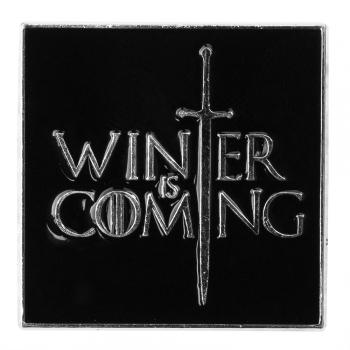 Значок пин Winter is coming