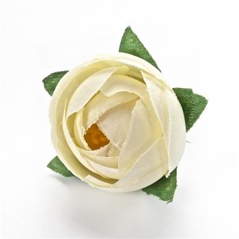 Штучна квітка Півонія кремова