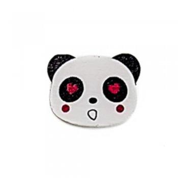 Влюбленная панда Деревянный клеевой элемент