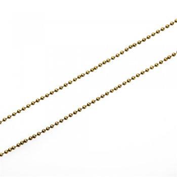 Цепь с цельными звеньями, бронза. Калибр 3 мм, ширина звена 3 мм, длина звена 3 мм