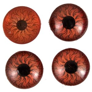 Пластиковые глазки коричневый 9 мм