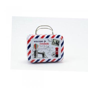 Коробочка жерстяна у вигляді валізки Welcome To London