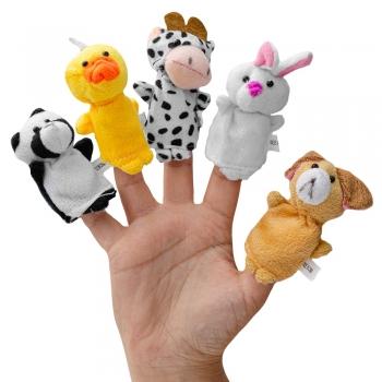 Пальчиковые куклы Зверушки (уп5шт)