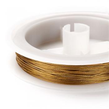 Металева волосінь. Зеленувато-золотий. Діаметр 0,45 мм.