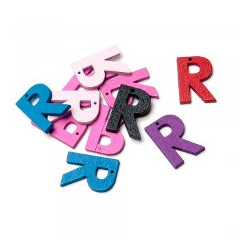 Підвіски дерев'яні, буква R