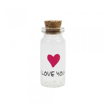 Колба стеклянная Love you