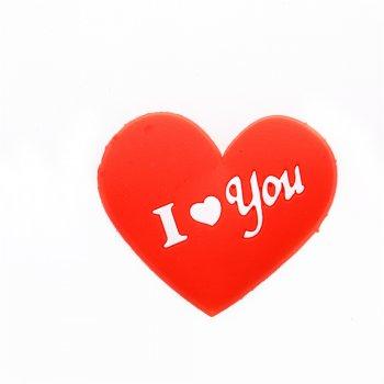 Каучуковая подвеска сердце i love you