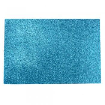 Фоамиран с глиттером 20 х 30 см голубой