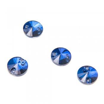 Скляні пришивні стрази сині (уп4шт)