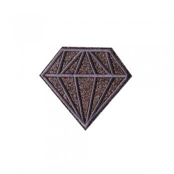 Тканинна нашивка Діамант Бузково-Сіра