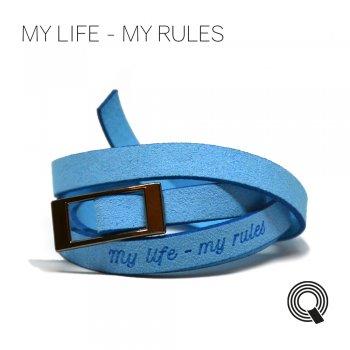 "Браслети квоутлети ""My life - my rules"", блакитний"