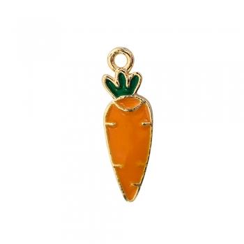 Металева підвіска з емаллю Морква