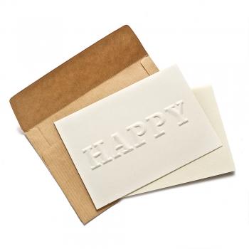 Открытка с конвертом Happy