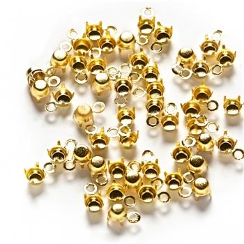 Основи для страз конічних. Золотий. Діаметр 3 мм.