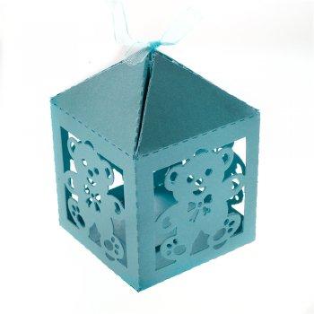 Коробочка картонная подарочная. Бирюза. 10 х 6 см