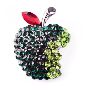 Брошка Яблуко зелене