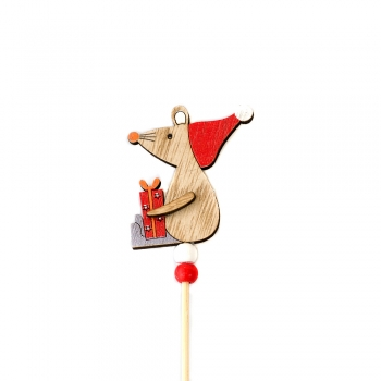Деревянный декоративный элемент Мышка