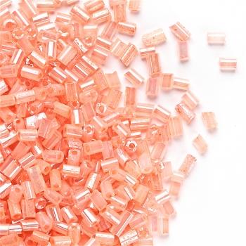 Бісер-рубка світло персиковий 2.1 мм скло