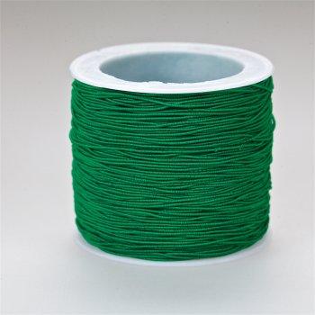 Шнур-резинка зелёный текстиль 0,6 мм