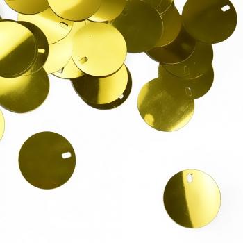 Рекламні паєтки 0,025 кг золоті глянцеві