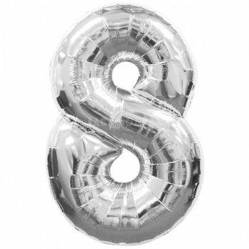 Куля Фольга у вигляді цифри 8 100см