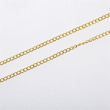 Цепь золотая панцирнийя 2,25 х 3 х 0,6 мм