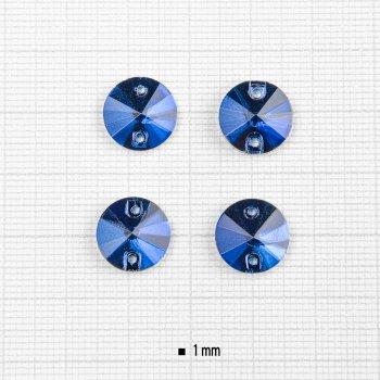 Стеклянные пришивные стразы синие (уп4шт)