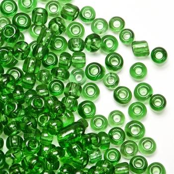 Бісер круглий невеликий зелений прозорий, 1.8 мм