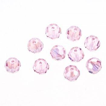 Кришталеві намистини рожевий 8 мм