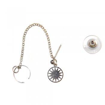 Сережки-Кафи з підвіскою на ланцюгу