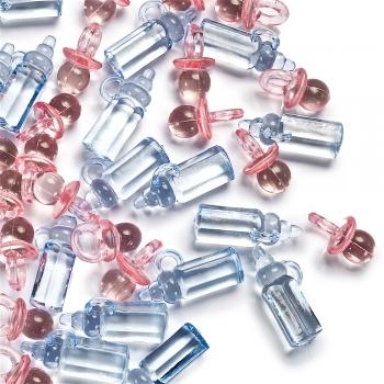 Пластиковые кристаллы. Микс цветов. Микс размеров.