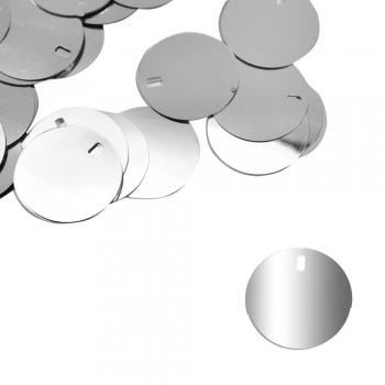 Рекламні паєтки 0,025 кг сріблясті глянцеві