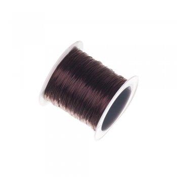 Резинка силиконовая тонкая, коричневая, 1.5 мм
