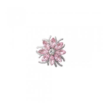 Намистина кнопка квітка 8-пелюсткова рожева