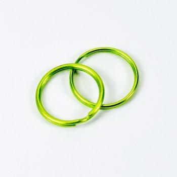 Кольцо для брелка 28 мм зеленое