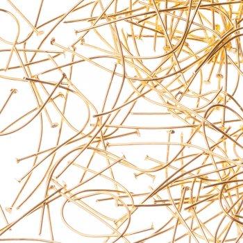 Бижутерные гвоздики золотой 50 мм