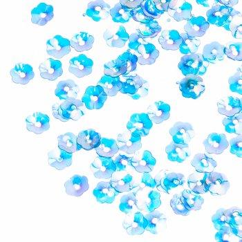 Пайетки синий радужный 6 мм